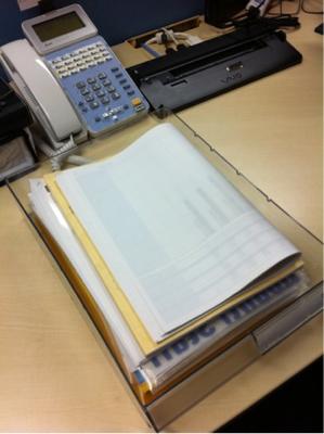 書類のマウンテン