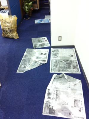 幕張事務所が浸水
