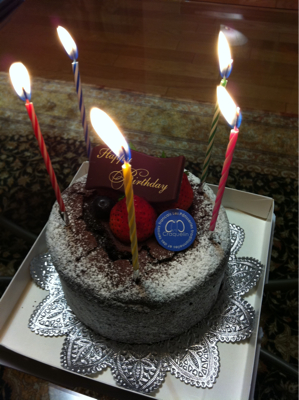 一足早い誕生日
