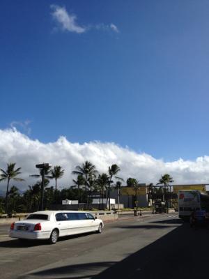 いかにもハワイな天気