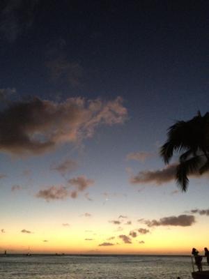2011年12月25日ワイキキビーチサンセット