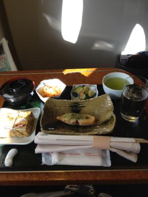 大阪上空7,900メートルな朝ごはん