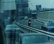 阪神高速渋滞中