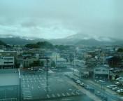 静岡は霧雨に
