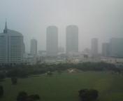 霧雨の海浜幕張